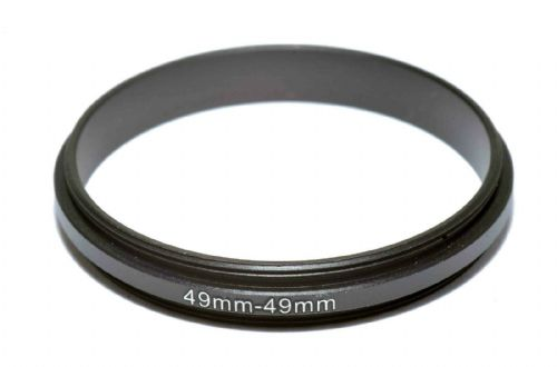 Coupling Ring Male-Male Thread 49mm 49-49  Double Lens Reverse Macro Adapter